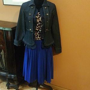 Dresses & Skirts - Vntg. Pleated Accordion Midi Skirt!